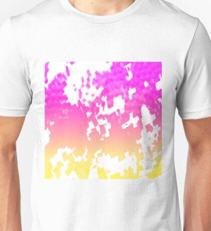 Yellow, Pink,Purp Blotch Unisex T-Shirt