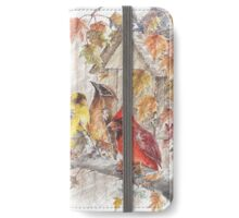 Wild Birds on a Limb  iPhone Wallet/Case/Skin