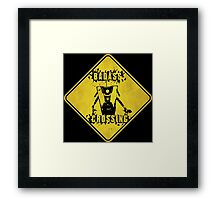Claptrap Badass Crossing (Worn Sign) Framed Print