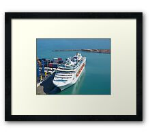 Cruise ship - tilt shifted Framed Print