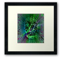 Spectrum Skull Framed Print