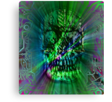 Spectrum Skull Canvas Print