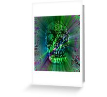 Spectrum Skull Greeting Card