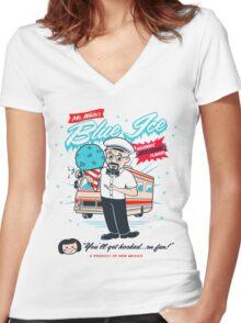 Mr. White's Blue Ice Women's Fitted V-Neck T-Shirt