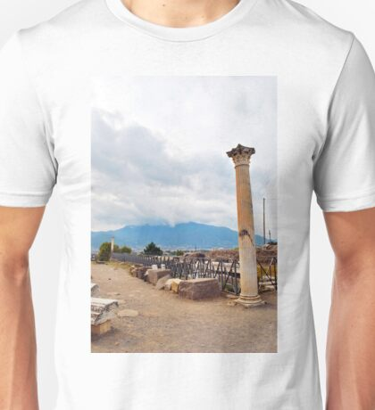 Paved stone road to Pompeii. Unisex T-Shirt