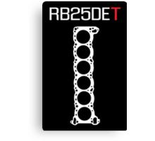 RB25DET Nissan Engine Head Gasket design for a dark shirt Canvas Print