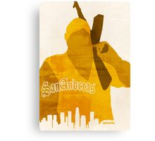 GTA San Andreas Minimalistic Design Canvas Print