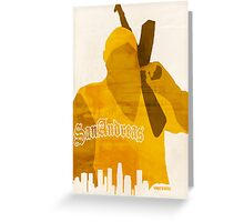 GTA San Andreas Minimalistic Design Greeting Card