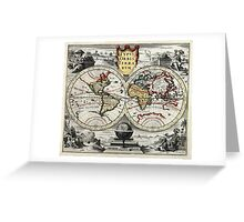 World Map 1758 Greeting Card