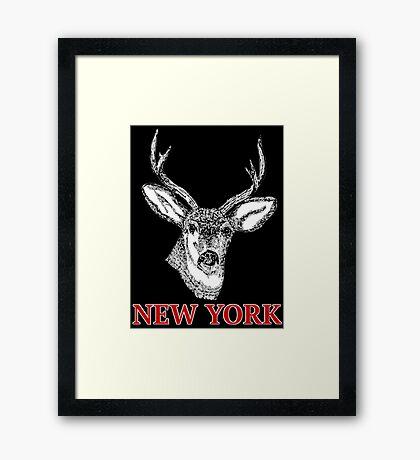 Dan Smith Stag Jumper Design Framed Print