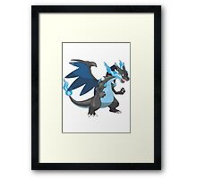 Mega Evolution Charizard X Framed Print