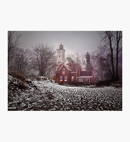 Winter at Presque Isle Light Photographic Print