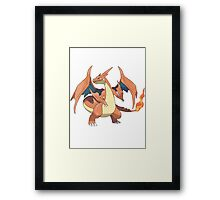 Mega Evolution Charizard Y Framed Print