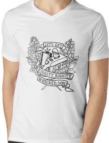 Rick and Morty / Let's Get Riggity Riggity Wrecked, Son Mens V-Neck T-Shirt