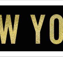 Gold New York Sticker