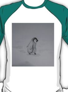 Baby Penguin Black and White Watercolor T-Shirt