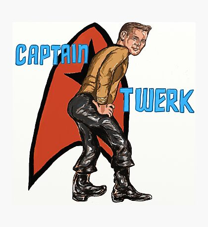 Captain Twerk Photographic Print