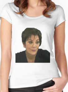 Kris jenner crying Women's Fitted Scoop T-Shirt