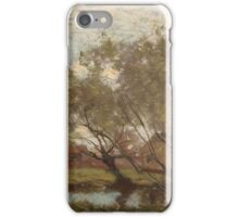 Henry Ward Ranger - Trees along a pool iPhone Case/Skin