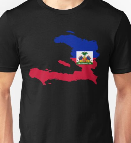 Haiti Flag Map Unisex T-Shirt