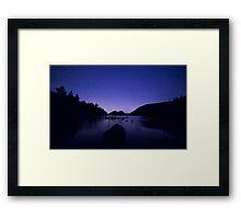 On Jordon Pond  Framed Print