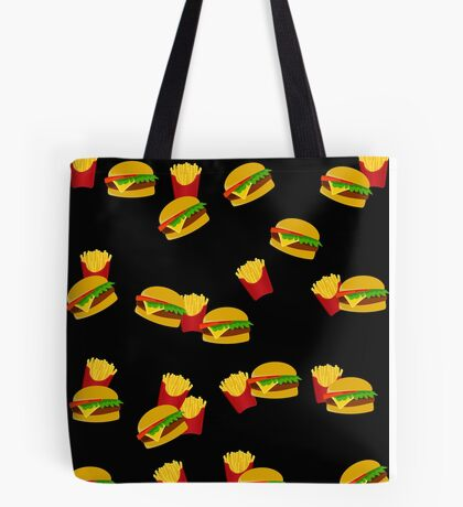 Hamburgers and french fries pattern Tote Bag