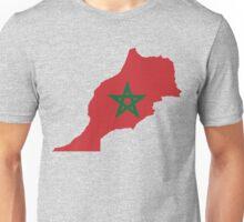 Morocco Flag Map Unisex T-Shirt