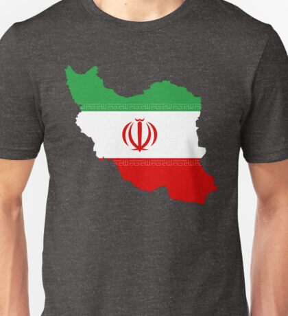 Iran Flag Map Unisex T-Shirt