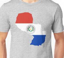 Paraguay Flag Map Unisex T-Shirt