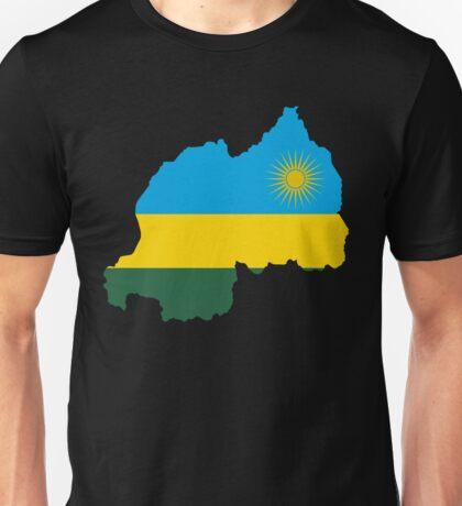 Rwanda Flag Map Unisex T-Shirt