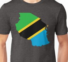 Tanzania Flag Map Unisex T-Shirt