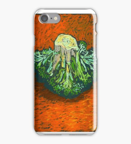 Broccoli in soft pastel. Simple still life. iPhone Case/Skin