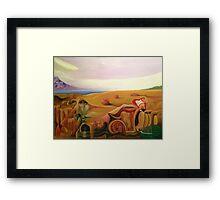 Frank Zappa Meets Salvador Dali. Surreal Painting Framed Print