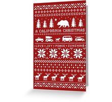 California Christmas Pattern Greeting Card