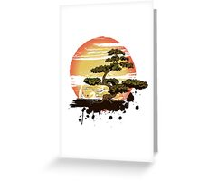 Bonsai Tree Karate Dojo Greeting Card