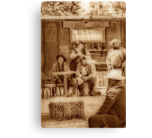 Happy Hour in the Old West Canvas Print