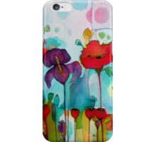 Watercolor iris iPhone Case/Skin