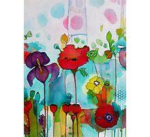 Watercolor iris Photographic Print
