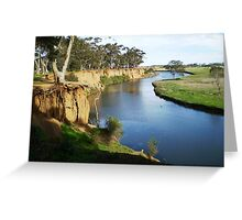 Werribee River and the Tree - Vic. Australia Greeting Card