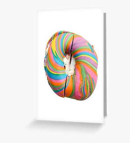 Rainbow Bagel Greeting Card