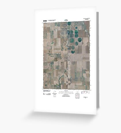 USGS TOPO Map Colorado CO Sunnydale 20100808 TM Greeting Card