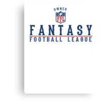 Fantasy Football Owner Canvas Print