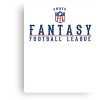 Fantasy Football Owner Canvas Print