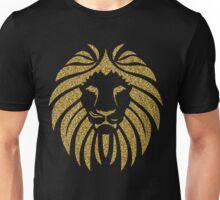 Gold Glitter Lion Tribal Silhouette Unisex T-Shirt