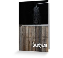 An outdoor shower Greeting Card