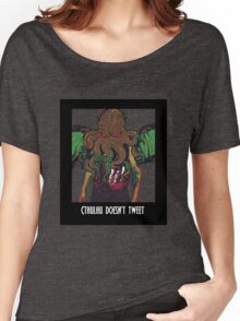 Cthulhu Doesn't Tweet - Black Women's Relaxed Fit T-Shirt