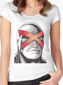 Cyclops Pen and Ink Women's Fitted Scoop T-Shirt