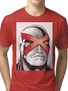 Cyclops Pen and Ink Tri-blend T-Shirt