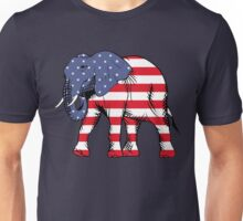Elephant in American Flag Colors Unisex T-Shirt