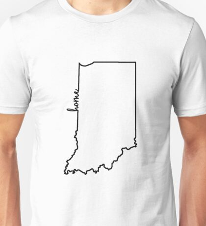 Indiana Home Outline Unisex T-Shirt